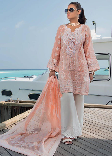 Zainab Chottani Unstitched 3 Piece Suit ZC20LL 11A - Luxury Collection