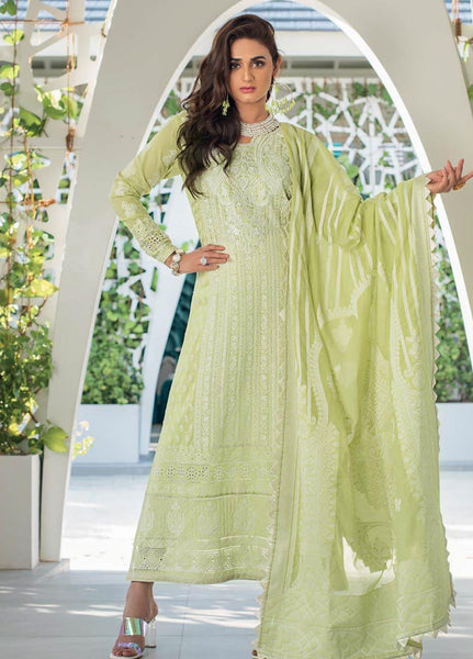 Zainab Chottani Unstitched 3 Piece Suit ZC20LL 11B - Luxury Collection