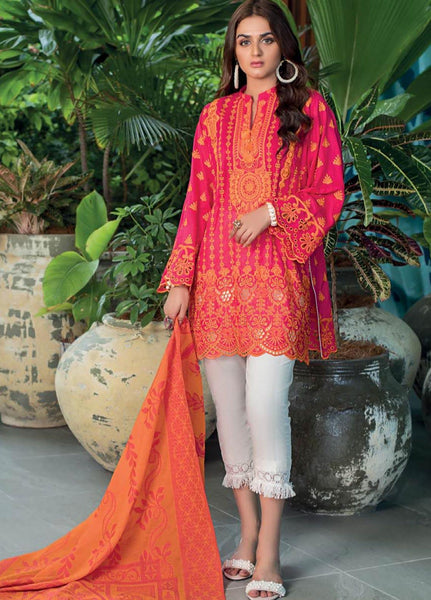 Zainab Chottani Unstitched 3 Piece Suit ZC20LL 12B - Luxury Collection