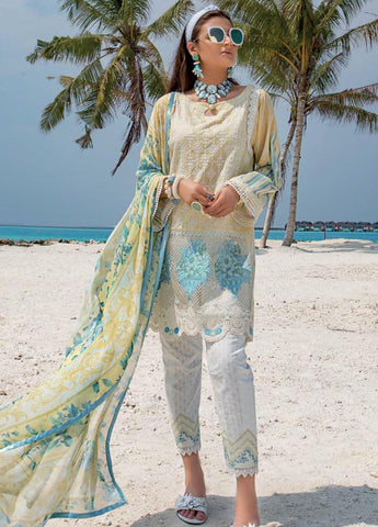Zainab Chottani Unstitched 3 Piece Suit ZC20LL 1A - Luxury Collection