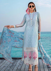 Zainab Chottani Unstitched 3 Piece Suit ZC20LL 1B - Luxury Collection