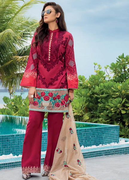Zainab Chottani Unstitched 3 Piece Suit ZC20LL 2B - Luxury Collection
