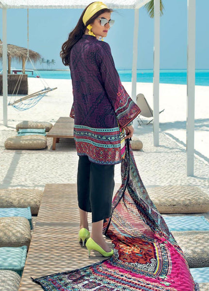 Zainab Chottani Unstitched 3 Piece Suit ZC20LL 4A - Luxury Collection