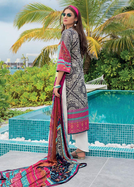 Zainab Chottani Unstitched 3 Piece Suit ZC20LL 4B - Luxury Collection