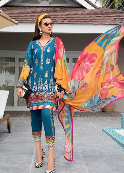 Zainab Chottani Unstitched 3 Piece Suit ZC20LL 5A - Luxury Collection