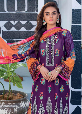 Zainab Chottani Unstitched 3 Piece Suit ZC20LL 5B - Luxury Collection