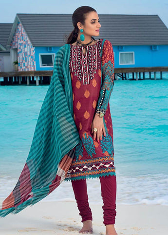 Zainab Chottani Unstitched 3 Piece Suit ZC20LL 6A - Luxury Collection
