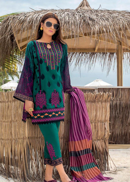 Zainab Chottani Unstitched 3 Piece Suit ZC20LL 6B - Luxury Collection