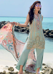 Zainab Chottani Unstitched 3 Piece Suit ZC20LL 7A - Luxury Collection