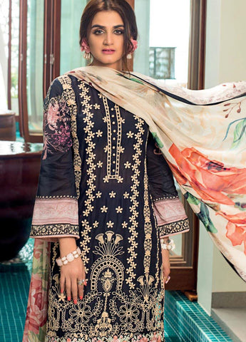 Zainab Chottani Unstitched 3 Piece Suit ZC20LL 7B - Luxury Collection