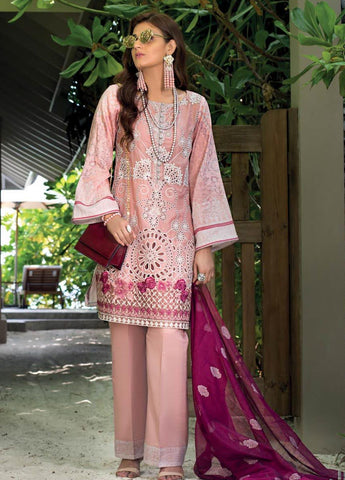 Zainab Chottani Unstitched 3 Piece Suit ZC20LL 8A - Luxury Collection