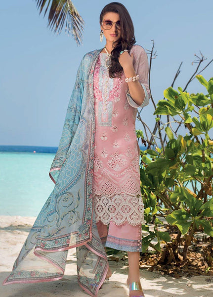 Zainab Chottani Unstitched 3 Piece Suit ZC20LL 9A - Luxury Collection