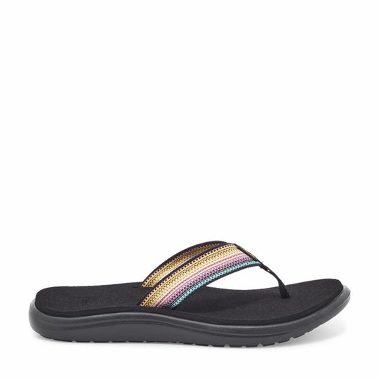 Teva Women VOYA FLIP ANTIGUOUS BLACK MULTI
