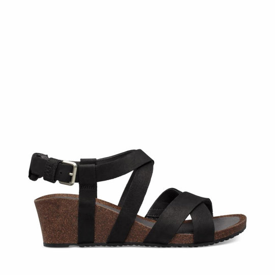Teva Women MAHONIA WEDGE CROSS STRAP BLACK