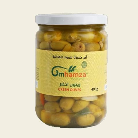 Um Hamza Green Olives 400g - 2kShopping.com - Grocery | Health | Technology