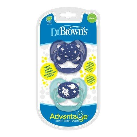 Dr Browns Advantage Pacifier - Stage 1 Blue Space... - 2kShopping.com - Grocery | Health | Technology