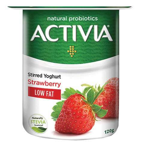 Activia Stirred Yoghurt Low Fat Strawberry 120g - 2kShopping.com - Grocery | Health | Technology
