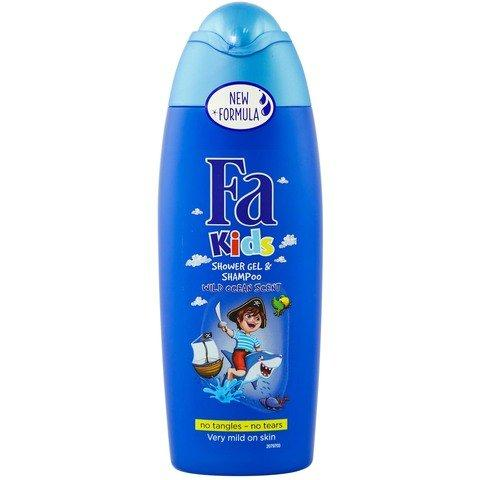 Fa Kids Shower Gel and Shampoo Wild Ocean Scent 250ml - 2kShopping - Grocery | Health | Technology