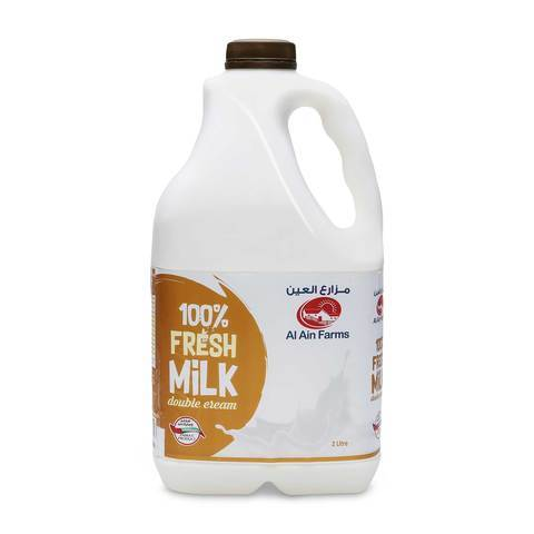 Al Ain Double Cream Fresh Milk 2L - 2kShopping.com - Grocery | Health | Technology