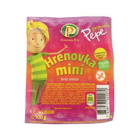 Perutnina Ptuj Pepe Mini Chicken Frankfurter 100g - 2kShopping.com - Grocery | Health | Technology