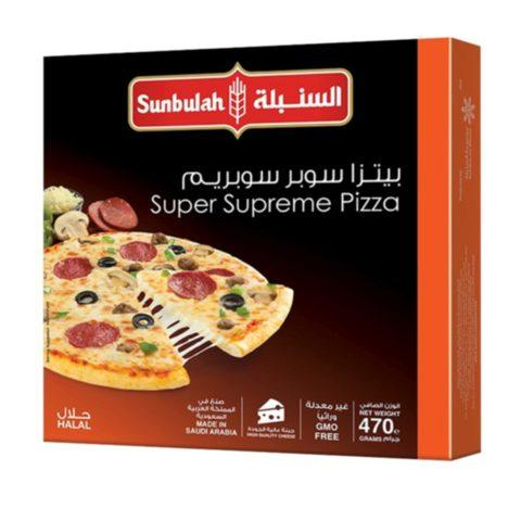 Sunbulah Super Supreme Pizza 470g - 2kShopping - Grocery | Health | Technology