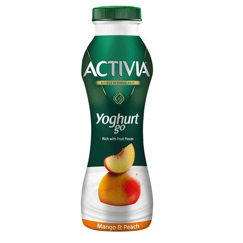 Activia YoghurtGo Drinkable Youghurt Snack Peach-Mango 280ml - 2kShopping.com - Grocery | Health | Technology