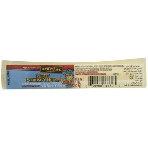 American Heritage Light String Cheese 28g - 2kShopping.com - Grocery | Health | Technology