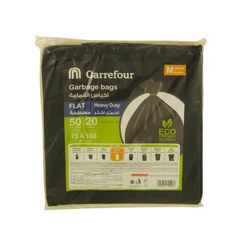 Carrefour Garbage Bags Flat 50 Gallons 20 Bags... - 2kShopping - Grocery | Health | Technology