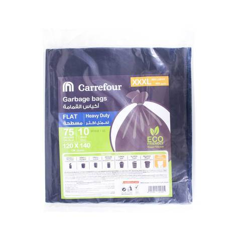 Carrefour Garbage Bags Flat 75 Gallons XXXL 10 Bags... - 2kShopping.com - Grocery | Health | Technology