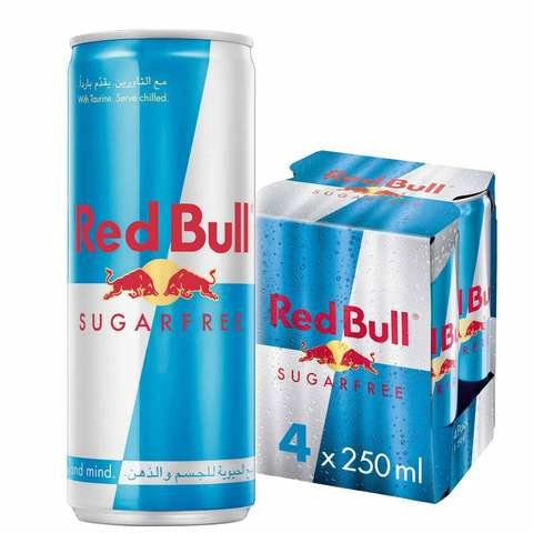 Red Bull Sugar Free Energy Drink 250ml x Pack of 4 - 2kShopping.com