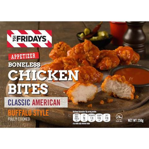 TGI Fridays Boneless Chicken Bites Buffalo Stlye 250... - 2kShopping - Grocery | Health | Technology