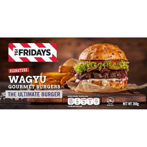 TGI Fridays Wagyu Gourmet Burgers 260g - 2kShopping - Grocery | Health | Technology