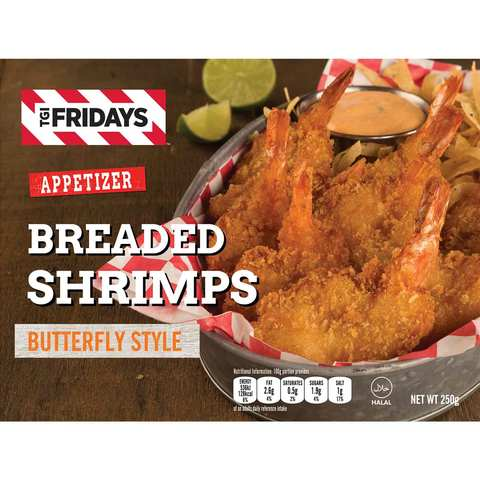TGI Friday's Breaded Shrimps Butterfly Style 250... - 2kShopping - Grocery | Health | Technology