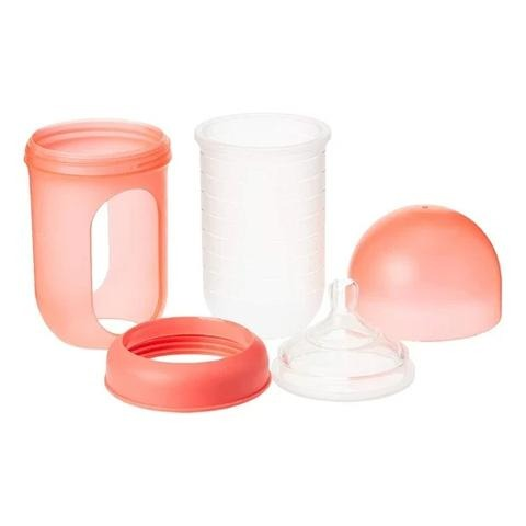 Boon Silicone Bottle, 8 Oz, Coral - 2kShopping.com - Grocery | Health | Technology