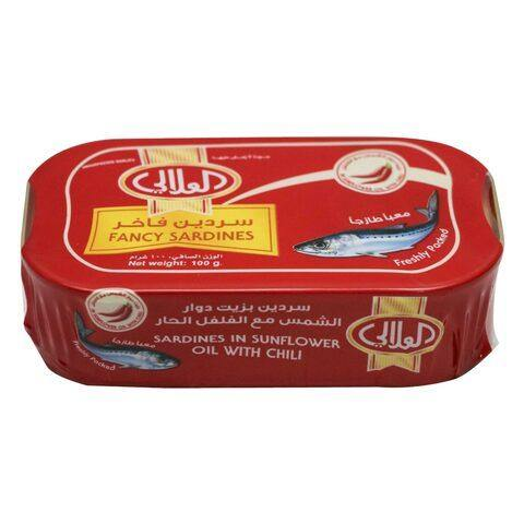 Al Alali Fancy Sardines in Sunflower Oil With Chili 100g - 2kShopping.com - Grocery | Health | Technology