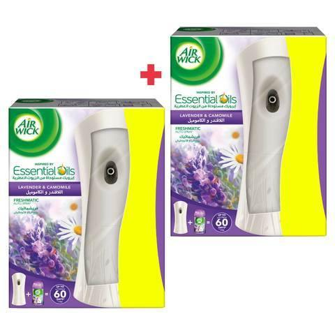 Air Wick Freshmatic Max Automatic Spray with Lavender & Camomile x2 - 2kShopping.com - Grocery | Health | Technology