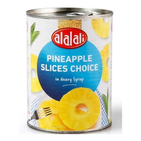Al Alali Choice Pineapple Slices in Heavy Syrup 567g - 2kShopping.com - Grocery | Health | Technology