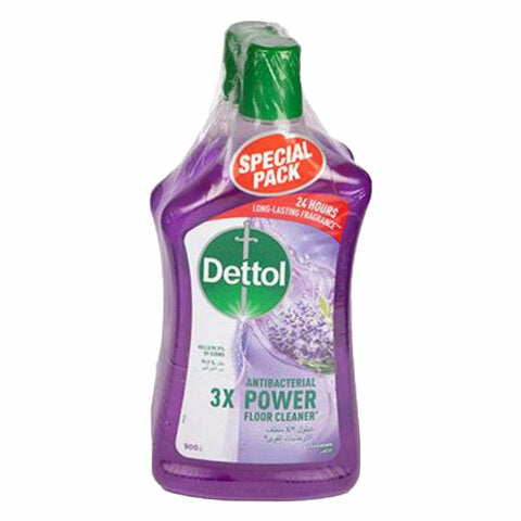 Dettol Lavender Antibacterial Power Floor Cleaner 900ml x Pack of 2 - 2kShopping.com