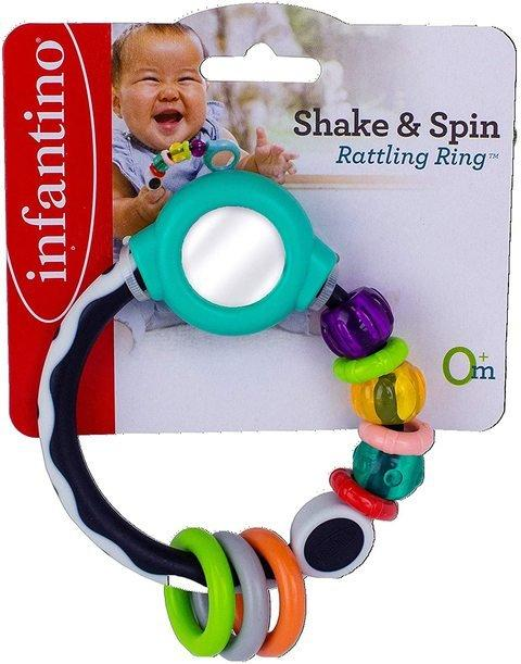 INFANTINO - Shake & Spin Rattling Ring... - 2kShopping - Grocery | Health | Technology
