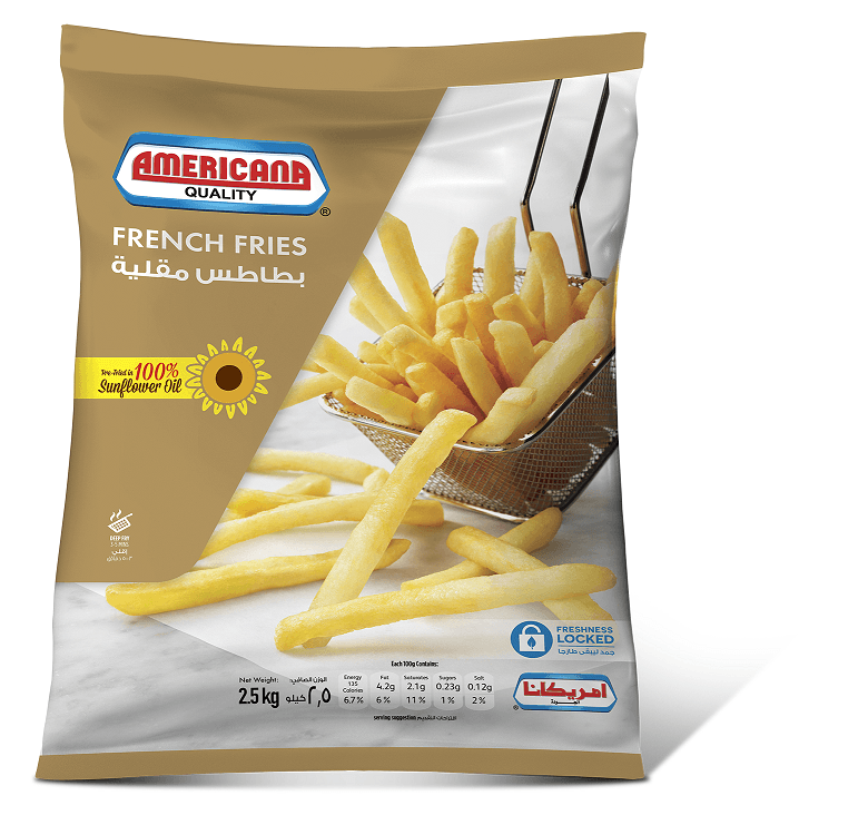 Americana French Fries 2.5 Kg - 2kShopping.com - Grocery | Health | Technology