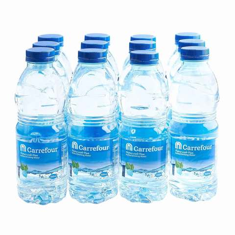 Carrefour Bottled Drinking Water 500ml x Pack of 12 - 2kShopping.com