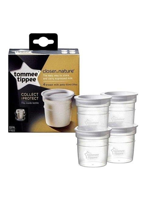 Tommee Tippee Closer To Nature Milk Storage Pots X 4 - 2kShopping - Grocery | Health | Technology