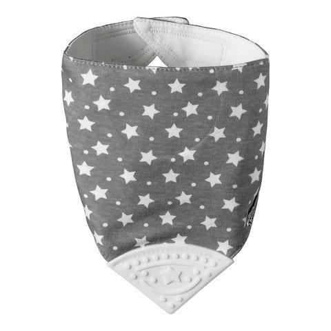 Tommee Tippee Teethe 'N' Chew Bandana Bib Grey - 2kShopping - Grocery | Health | Technology
