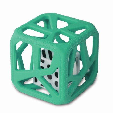 Chew Cube Easy Grip Teether Rattle Turquoise - 2kShopping.com - Grocery | Health | Technology