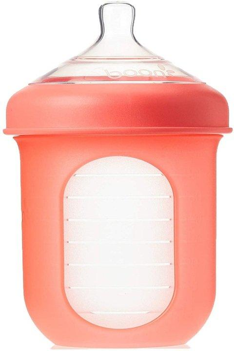 Boon Silicone Bottle, 8 Oz, Coral - 2kShopping - Grocery | Health | Technology