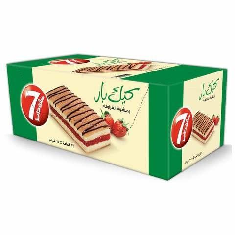 7 Days Strawberry Cake Bar 25g x Pack of 12 - 2kShopping.com - Grocery | Health | Technology