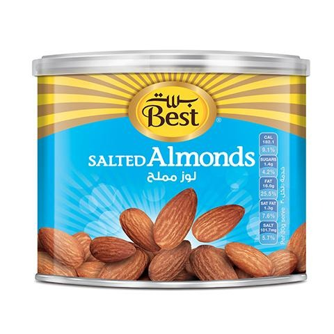 Best Salted Almonds Can 110g - 2kShopping.com - Grocery | Health | Technology