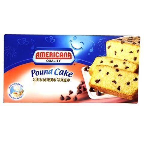 Americana Chocolate Chips Pound Cake 295g - 2kShopping.com - Grocery | Health | Technology