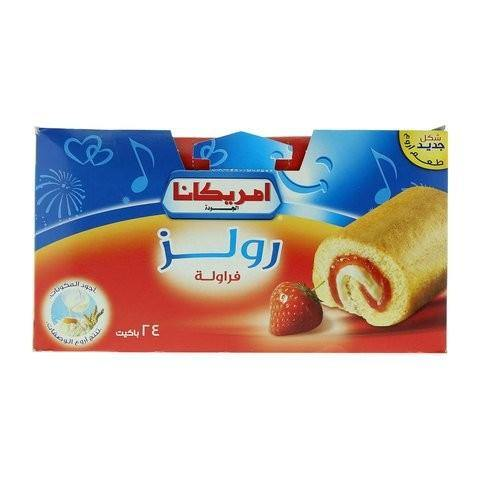 Americana Quality Strawberry Rolls 20g x Pack of 24 - 2kShopping.com - Grocery | Health | Technology