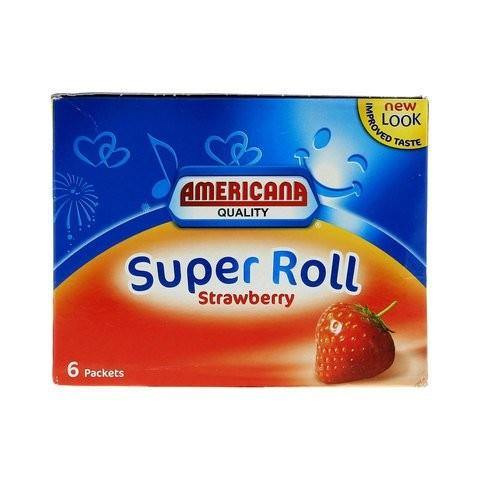 Americana Strawberry Super Roll Cake 60g x Pack of 6 - 2kShopping.com - Grocery | Health | Technology